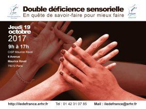 Affiche de la journée de sensiblisation Double deficience sensorielle
