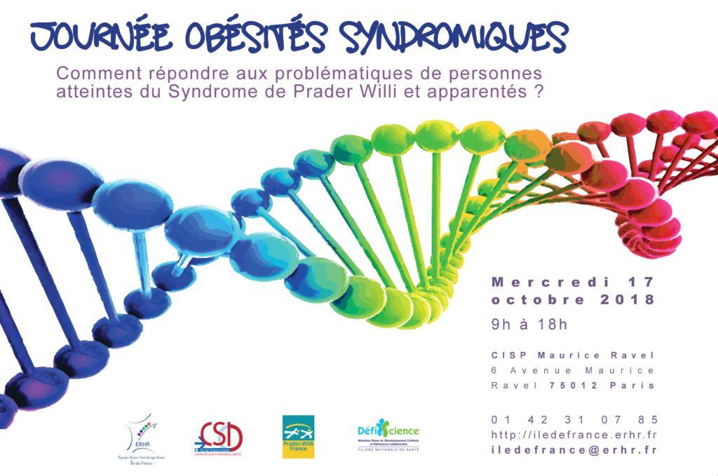 Affiche de la journée Obésités syndromiques du 17 octobre 18